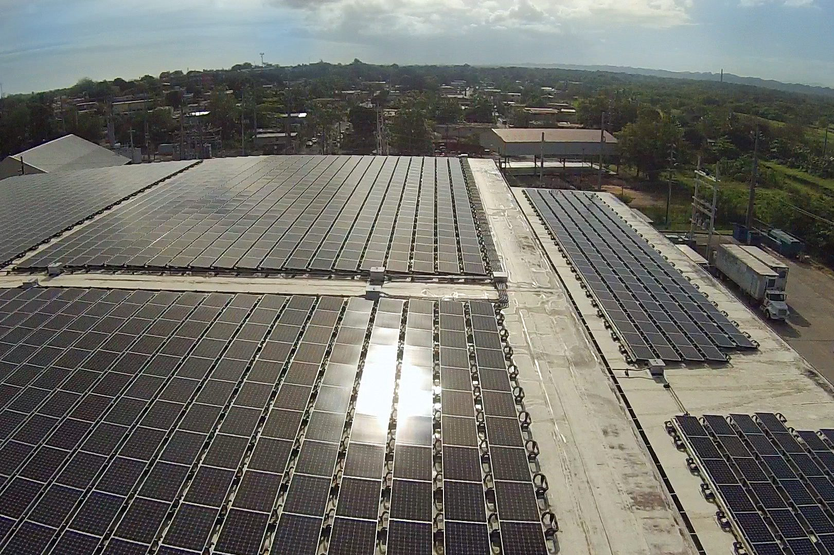 an image of roof mount solar power system from yarotek